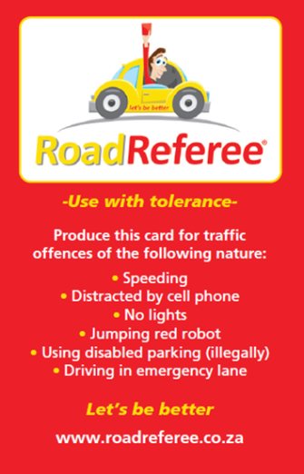 road ref card red